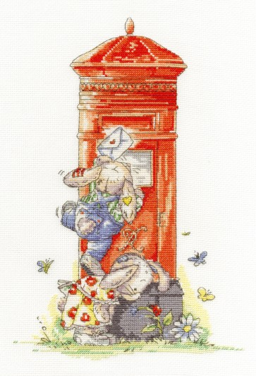 DMC Cross Stitch Kit - Somebunny To Love - Posting Letters