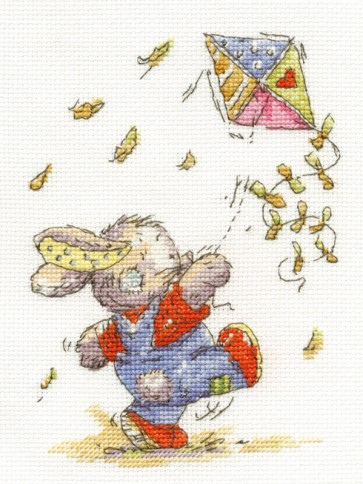 DMC Cross Stitch Kit - Somebunny To Love - Kite Flying