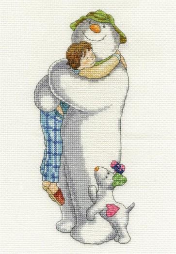 DMC Cross Stitch Kit - Christmas - The Snowman Group Hug
