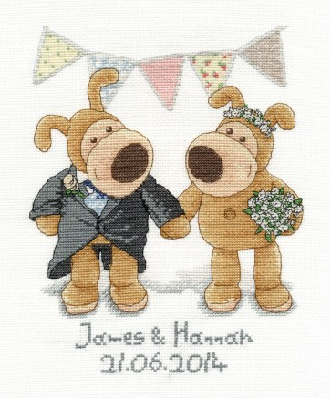 DMC Cross Stitch Kit - Boofle - Boofle Wedding Sampler