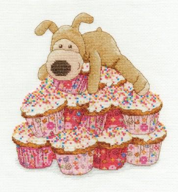 DMC Cross Stitch Kit - Boofle - Boofle Cupcakes