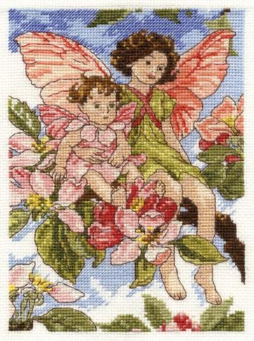 DMC Cross Stitch Kit - Flower Fairies - The Apple Blossom Fairy
