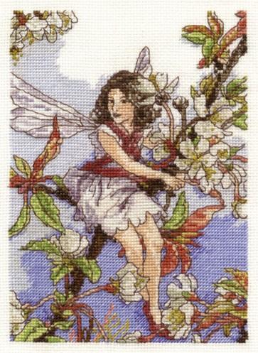 DMC Cross Stitch Kit - Flower Fairies - The Wild Cherry Blossom Fairy