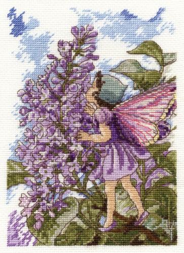 DMC Cross Stitch Kit - Flower Fairies - The Lilac Fairy