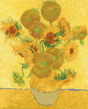 DMC Cross Stitch Kit - The National Gallery - Van Gogh - Sunflowers