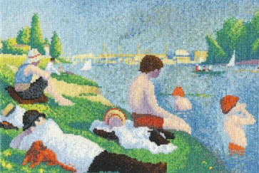 DMC Cross Stitch Kit - The National Gallery - Seurat - Bathers at Asni?res