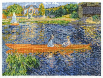DMC Cross Stitch Kit - The National Gallery - Renoir - The Skiff
