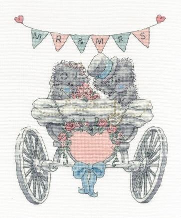 DMC Cross Stitch Kit -Tatty Teddy - Mr & Mrs