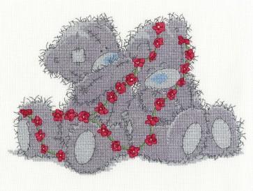 DMC Cross Stitch Kit - Tatty Ted - Daisy Chain