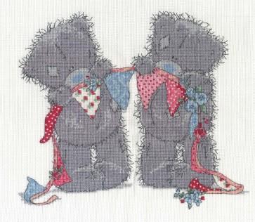 DMC Cross Stitch Kit - Tatty Ted - Bunting Bears