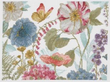 DMC Counted Cross Stitch Kit - Rainbow Flowers - Rainbow Seeds Flowers