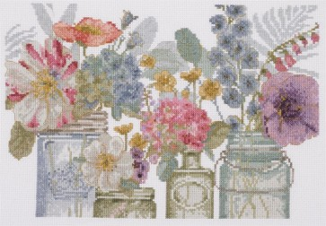 DMC Counted Cross Stitch Kit - Rainbow Flowers - Rainbow Seeds Flowers X