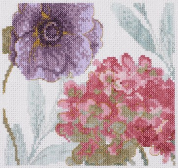 DMC Counted Cross Stitch Kit - Rainbow Flowers - Rainbow Seeds Flowers V