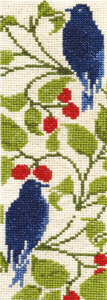 DMC Counted Cross Stitch Bookmark Kit - Bird And Berry
