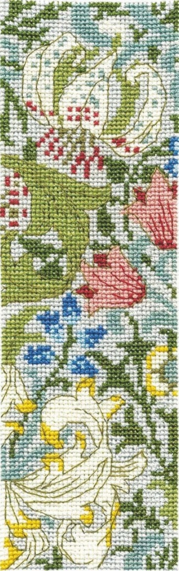 DMC Counted Cross Stitch Bookmark Kit - Golden Lily