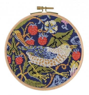 DMC Counted Cross Stitch Kit - William Morris - Strawberry Thief