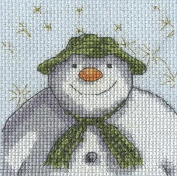 DMC Cross Stitch Kit - The Snowman - Stars