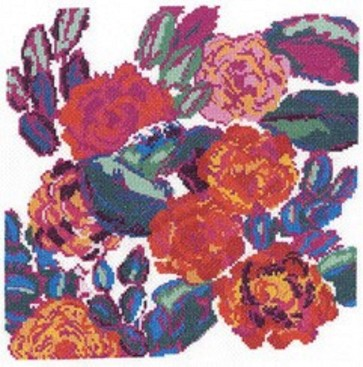 DMC Counted Cross Stitch Kit - Rose Composition