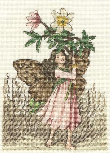 DMC Cross Stitch Kit - Flower Fairies - The Windflower Fairy