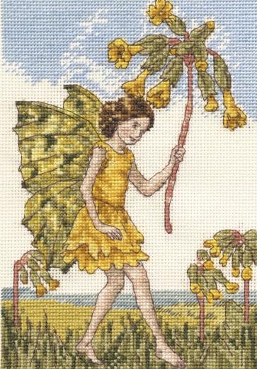 DMC Cross Stitch Kit - Flower Fairies - The Cowslip Fairy
