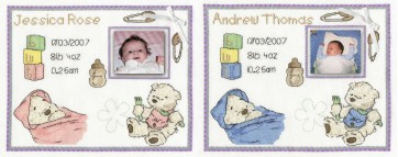 DMC Cross Stitch Kit - Lickle Ted - A New Lickle Life Sampler