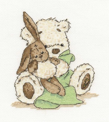 DMC Cross Stitch Kit - Lickle Ted - Lickle Bit Shy