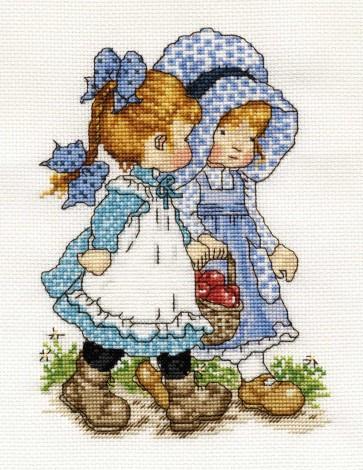 DMC Cross Stitch Kit - Sarah Kay - Good Friends