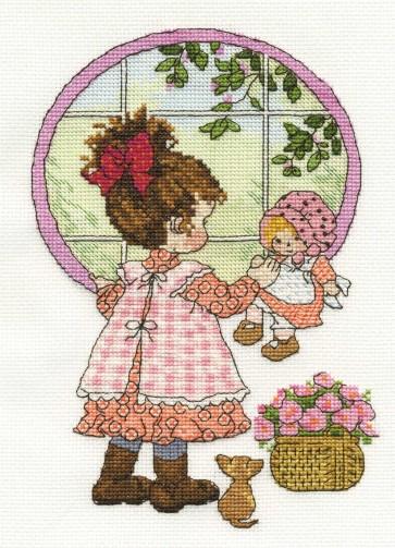 DMC Cross Stitch Kit - Sarah Kay - Through The Window