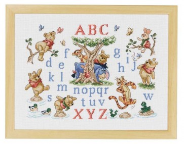 DMC Cross Stitch Kit - Disney Winnie The Pooh - Winne Sampler
