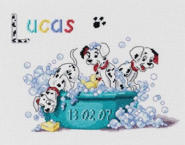 DMC Cross Stitch Kit - Disney 101 Dalmations - Dalmations First Name Sampler