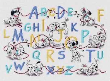 DMC Cross Stitch Kit - Disney 101 Dalmations - 101 Dalmations Sampler