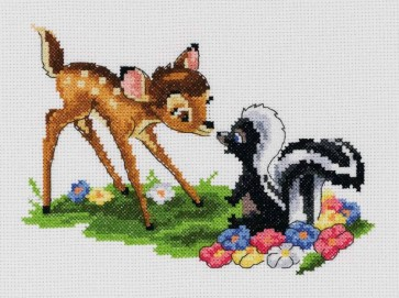 DMC Cross Stitch Kit - Disneys Bambi - Bambi Eskimo Kiss