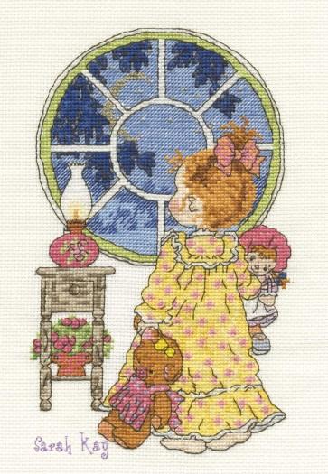 DMC Cross Stitch Kit - Sarah Kay - Bedtime Estelle