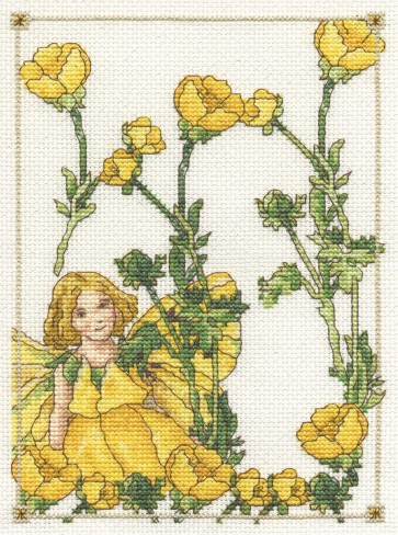 DMC Cross Stitch Kit - Flower Fairies - The Butter Cup Fairy