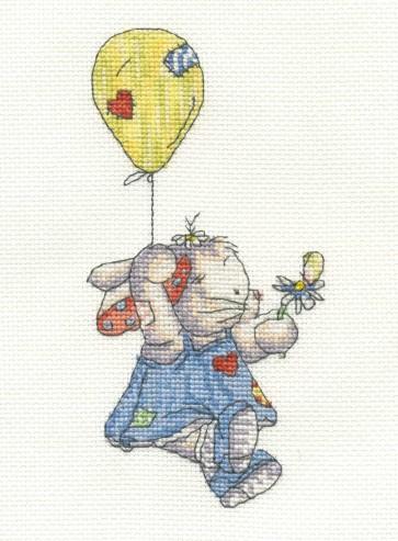 DMC Cross Stitch Kit - Somebunny To Love - Up In The Sky!