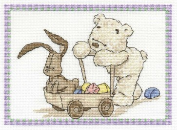 DMC Cross Stitch Kit - Lickle Ted - Lickle Playtime