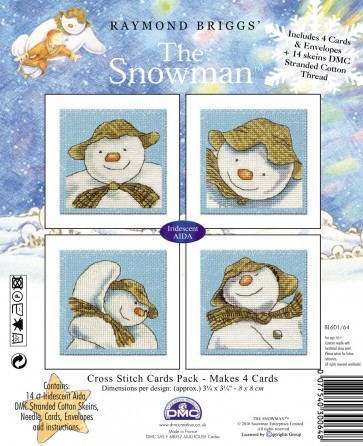 DMC Cross Stitch Kit - Christmas - The Snowman Cards Pack
