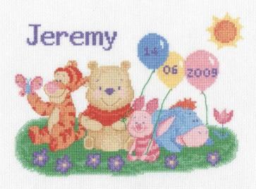 DMC Cross Stitch Kit - Disney Winnie The Pooh - Winne First Name Canvas