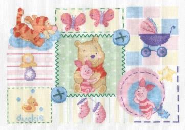 DMC Cross Stitch Kit - Disney Winnie The Pooh - Tender Winnie