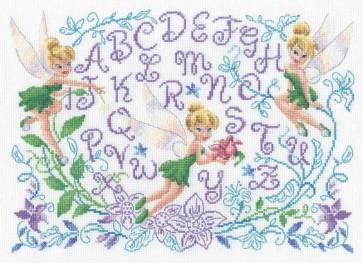 DMC Cross Stitch Kit - Disneys Tinker Bell - Tinker Bell Sampler