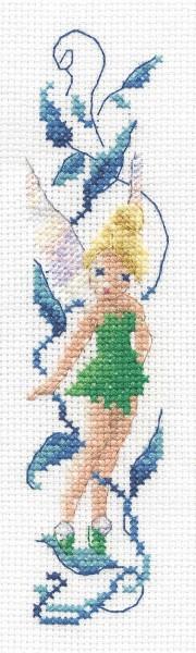 DMC Cross Stitch Kit - Disneys Tinker Bell - Tinker Bell Bookmark
