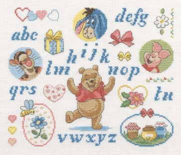 DMC Cross Stitch Kit - Disney Winnie The Pooh - Winnie Friendship Sampler