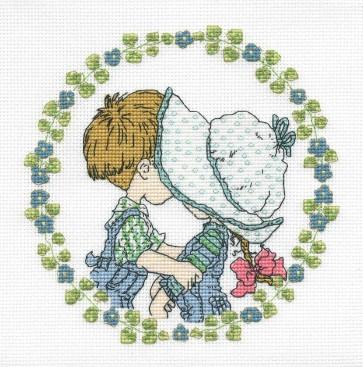 DMC Cross Stitch Kit - Sarah Kay - First Kiss