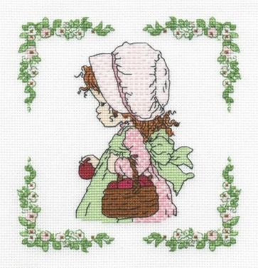 DMC Cross Stitch Kit - Sarah Kay - Apple Picking