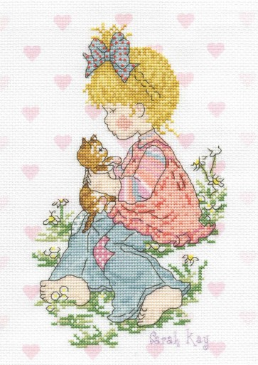 DMC Cross Stitch Kit - Sarah Kay - Lucie And Kitty