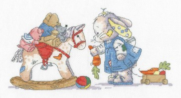 DMC Cross Stitch Kit - Somebunny To Love - Rocking Horse
