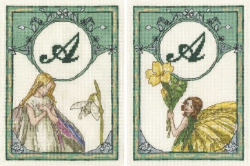DMC Cross Stitch Kit - The Snowdrop Fairy and The Primrose Fairy