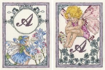 DMC Cross Stitch Kit - Flower Fairies - The Candytuft Fairy and The Chicory Fairy