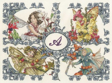 DMC Cross Stitch Kit - Flower Fairies - Flower Fairies All Seasons