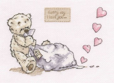 DMC Cross Stitch Kit - Lickle Ted - Every Day I Love You